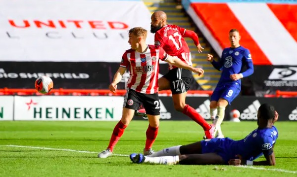 Sheffield United on target for Europe as McGoldrick dents Chelsea's hopes