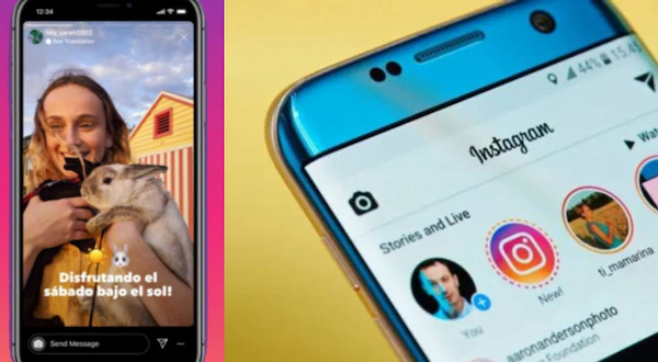 Instagram has added text translation to its stories