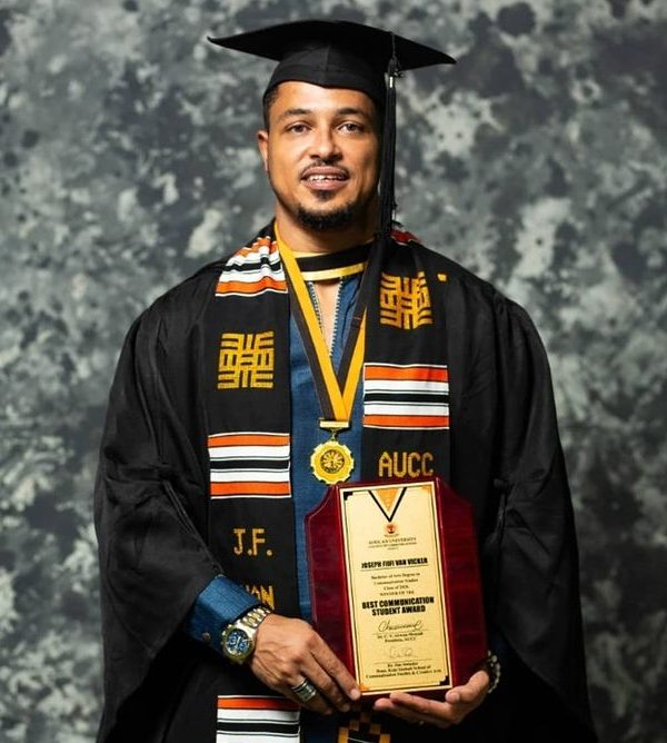 Van Vicker has finally completed his education After 24 years