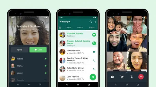 Whatsapp to allow users join group call after they have started
