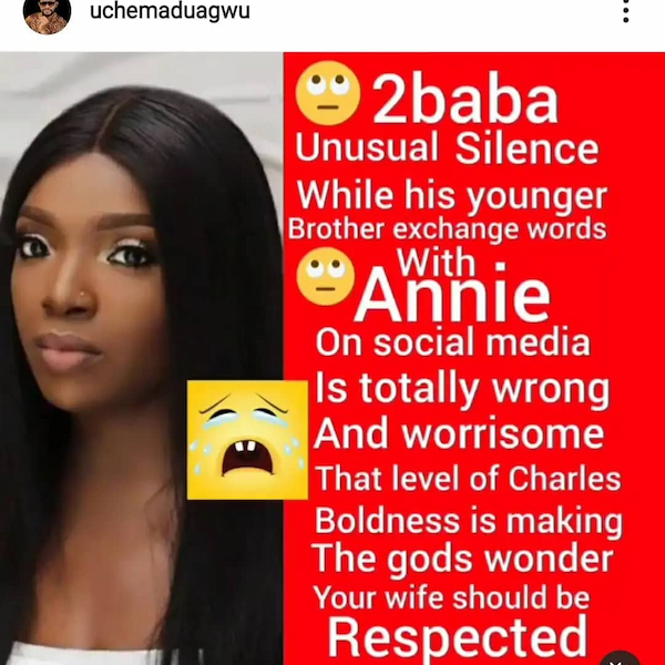 2Bace Shouldn't Be Quiet Despite Cheating Allegations - Uche Maduagwu