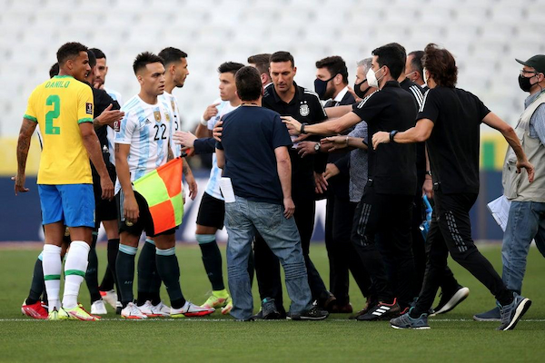 Brazil vs Argentina suspended as police storm pitch