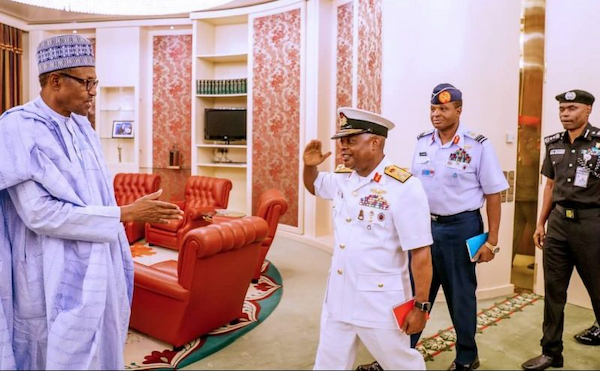 Buhari meets security chiefs and other officials