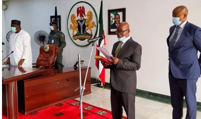 Governor Ugwuanyi swears in new acting chief judge